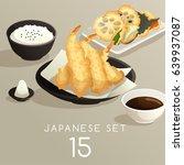 set of japanese food   vector... | Shutterstock .eps vector #639937087