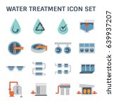 water treatment plant and water ... | Shutterstock .eps vector #639937207