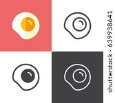 fried egg | Shutterstock .eps vector #639938641