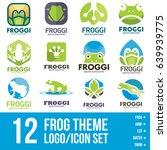 frog logo icon bundle | Shutterstock .eps vector #639939775