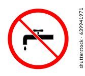 no drinking water sign.... | Shutterstock .eps vector #639941971