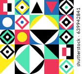 geometric colorful pattern.... | Shutterstock .eps vector #639942841