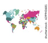 world map countries vector on... | Shutterstock .eps vector #639943681