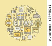news broadcasting colorful... | Shutterstock .eps vector #639948361