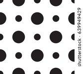 polka dot seamless pattern.... | Shutterstock .eps vector #639949429