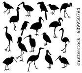 Vector Set Of Birds Silhouette...