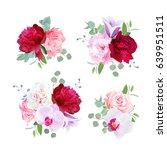 romantic gift bouquets in ... | Shutterstock .eps vector #639951511