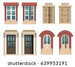 set of different designed doors ... | Shutterstock .eps vector #639953191