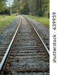 railroad tracks curving around... | Shutterstock . vector #639959