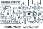big industrial steampunk... | Shutterstock .eps vector #639960859