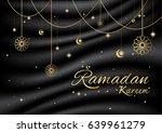 ramadan kareem on silk... | Shutterstock .eps vector #639961279