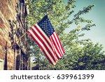 patriotic american flag in...