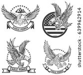 set of coat of arms with eagles.... | Shutterstock .eps vector #639962914