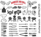 barbecue and grill. design... | Shutterstock .eps vector #639962935