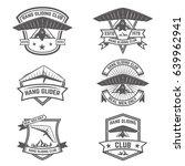 hang gliding club emblems.... | Shutterstock .eps vector #639962941