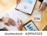 team work process. young... | Shutterstock . vector #639965335