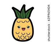 kawaii fruit icon | Shutterstock .eps vector #639965404