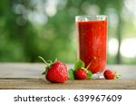 strawberries and strawberry...   Shutterstock . vector #639967609