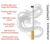 world no tobacco day. a poster... | Shutterstock .eps vector #639969991