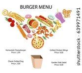 fast food restaurant banner... | Shutterstock .eps vector #639971491