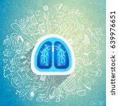 lungs illustration   halth care ... | Shutterstock . vector #639976651