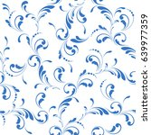 floral seamless pattern.... | Shutterstock .eps vector #639977359