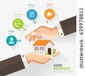 house insurance business... | Shutterstock .eps vector #639978811