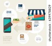 vector   online shopping... | Shutterstock .eps vector #639978829