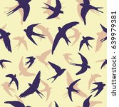 swallow pattern  vector ... | Shutterstock .eps vector #639979381