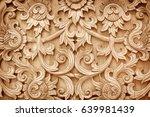 pattern of flower carved on... | Shutterstock . vector #639981439