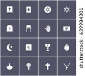 set of 16 religion elements... | Shutterstock .eps vector #639984301