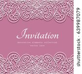 swirly vector frame with lace... | Shutterstock .eps vector #639987079