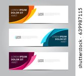 Vector abstract design banner template. | Shutterstock vector #639987115
