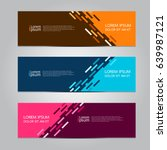 Vector abstract design banner template. | Shutterstock vector #639987121