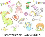 vector sketches with characters ...   Shutterstock .eps vector #639988315