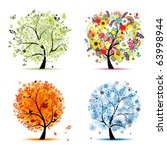 four seasons   spring  summer ... | Shutterstock .eps vector #63998944