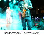 violin and saxophone show | Shutterstock . vector #639989644