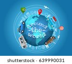 travel around the world. vector ... | Shutterstock .eps vector #639990031