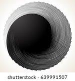 uniquely deformed swirl  twirl...   Shutterstock .eps vector #639991507