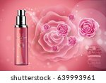 luxury cosmetic bottle package... | Shutterstock .eps vector #639993961
