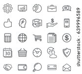business abstract line icons.... | Shutterstock .eps vector #639996589