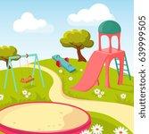 recreation children park with... | Shutterstock .eps vector #639999505