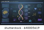 hud infographic elements with... | Shutterstock .eps vector #640005619