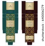 luxury box design  illustration ... | Shutterstock .eps vector #640006279