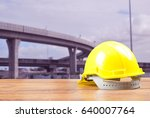 safety helmet with construction ... | Shutterstock . vector #640007764