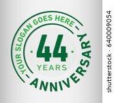 44 years anniversary logo... | Shutterstock .eps vector #640009054