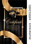 certificate with gold design... | Shutterstock .eps vector #640012681