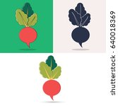 icons of turnip. color icons... | Shutterstock .eps vector #640018369