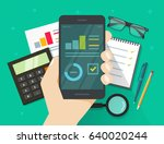 analytics data results on... | Shutterstock . vector #640020244