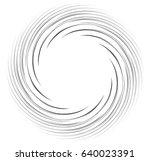 monochrome spiral geometric....